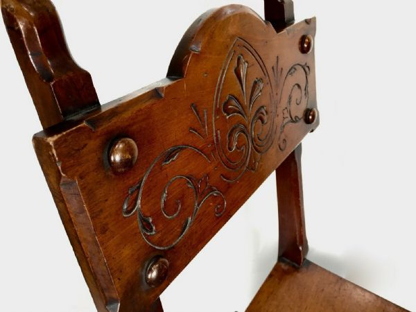 Antique Wooden Metamorphic Arts & Crafts Library Steps / Chair / Victorian c1890